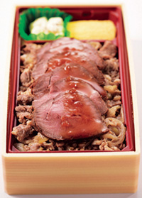 肉敷きローストビーフ弁当