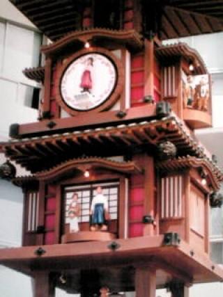 からくり時計の写真