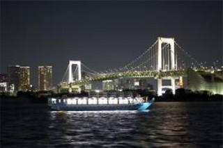 東京夜景 屋形船 平井の写真