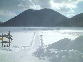然別湖の写真
