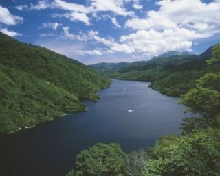 奥只見ダム湖の写真