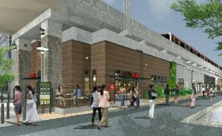 東横線都立大学駅高架下の写真