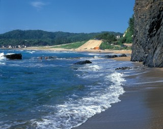 琴ヶ浜(泣き砂の浜)の写真