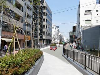 旧渋谷川遊歩道(キャットストリート)の写真