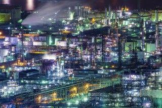 水島工業地帯(水島コンビナート)の写真