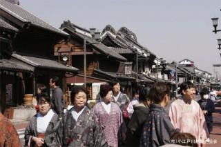 川越蔵造りの町並みの写真