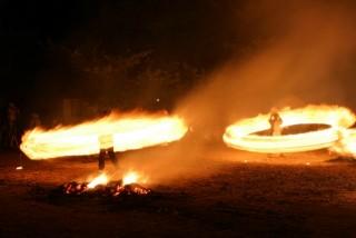 愛宕の火祭りの写真
